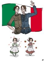 APH: Italy and Romano by NatashaFenik