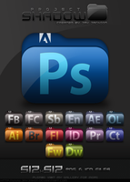 Shadow Icons: Adobe CS5 by JayJaxon