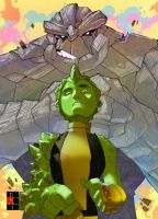 X-Men: Anole and Rockslide by bernce