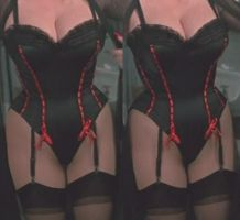 3d Dolly Parton Corset Closeup by 3dpinup