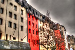 Street in Brussels 1 by PhotographybyGhost