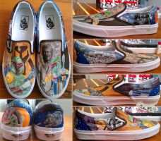 Star Wars shoes by LnknPrk7Snoopy