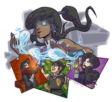 Team Korra! Im The Art Show, Deal With It! by CraigArndt