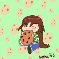 Chibi Ame and Cookie by alomar53 by neverb4