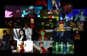 Young Justice Collab by BlazeandIcy