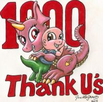 Thank U My 1000+ Watchers! by Legrandzilla