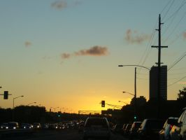 Driving into the sunset 2 by uematsu77