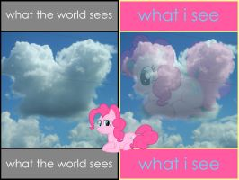What Bronies and Pegasisters See by AquaticNeon
