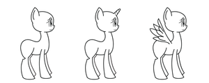 My Little Pony Linearts (free for use) by AgentAdopts