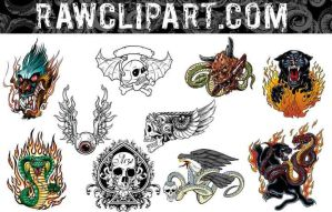 Tattoos Set by rawclips