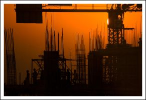 construction sunset 02 by sanwahi