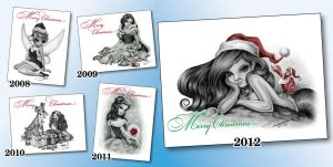 5 years of Christmas Cards by pat-mcmichael