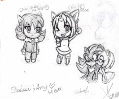 Chibi Shadow and Amy by SWAG-Daddy