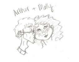 Arthur and Molly by wolverineluver45