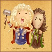 Thor and Loki by CodiBear
