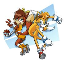 Tails and Fiona MXX Years Later by Chauvels