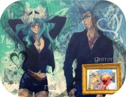 Grimmjow and Nel - Bleach by matsuket