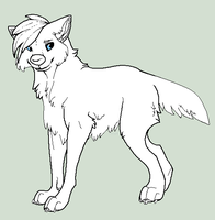 FREE MS Paint Canine Lineart by WolfPawdoptables