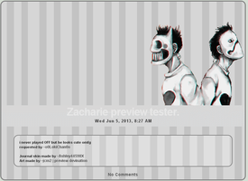 Journal skin: Zacharie (OFF) by Ashley44598X