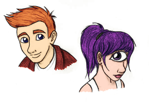 Fry and Leela. by CaptainJankyface