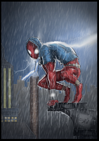 Scarlet Spider (JRJr. Hommage) by BouncieD