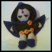 Raven Plushie by Painted-ghost