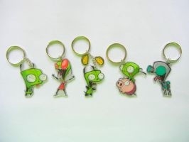 Invader Zim Keychains by Camspar