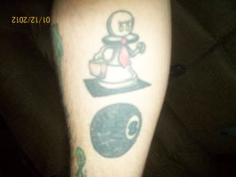 angry chess pawn with tie and briefcase tattoo by smokedcamel