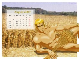 Pipo's Calendar 2009 August by Luisazo