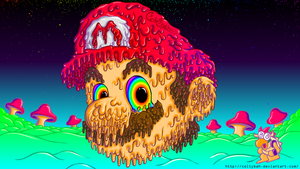 Super Trippy Mario by coltybah