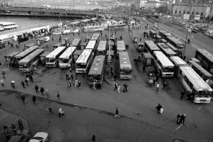 Bus Station by AhmetSelcuk