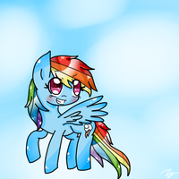 Rainbow Dash - Fly in the sky by Rinka-Anne8