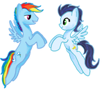 Gender swap Rainbow dash and Soarin by sweetchiomlp