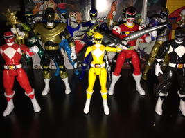 Power Rangers Toy Collection 010: Yellow Ranger by AnutDraws