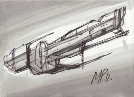 spaceship concept 1 by Bluedonutstudios