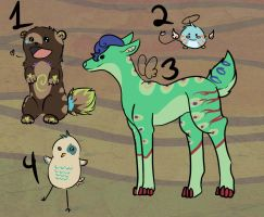Derp Adoptables, yay!  CLOSED by Silent-Arpeggio