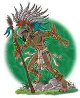 Aztec Eagle Warrior by mengblom