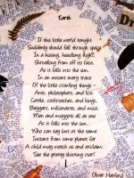 Earth Poem - Our World Today by Mayanita