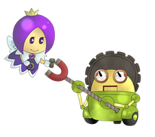 Gearmo and Purple Sprixie Princess for Collab by G66D66