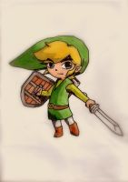 Toon Link by draconar