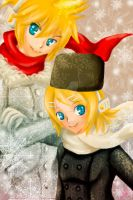 Vocaloid_+Kagamine Twins+ by sARaLy560
