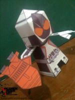 Kamen Rider Fourze Papercraft by jazzmellon