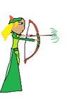 A Girl shooting A Arrow by willowstar2
