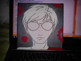 Dave Strider Canvas Painting WIP 2 by MrOrangeCreamsicles