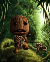 Sackboy on the run by DaniloLatino