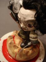 Sweeney Todd mini munny by invader-gir