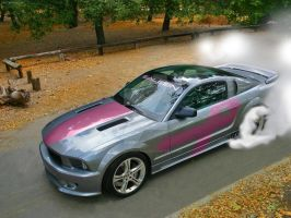 ThinkPink Saleen Mustang by MissMatteBlack