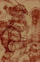 boceto BioShock 2 by crispawn