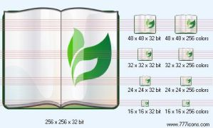Plant reference book Icon by medical-icon-set