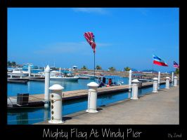 Mighty Flag At Windy Pier by zend
